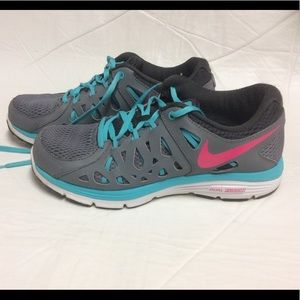 Nike Dual Fusion Run 2 Running Shoes Gray & Blue